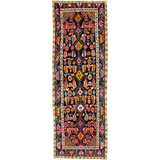 "Vintage Persian Hamadan Rug – Size: 4' 2"" X 11' 9"" For Sale"