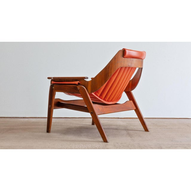 1960s Mid Century Modern Jerry Johnson Triumph I Sling Chair For Sale - Image 5 of 9