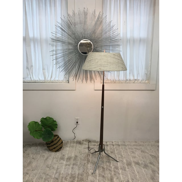 Brown Mid Century Modern Gerald Thurston Floor Lamp For Sale - Image 8 of 12