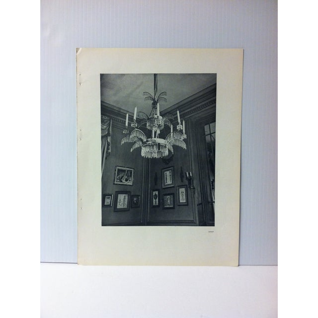 """1946 """"Chandelier"""" Art Et Style French Print For Sale - Image 4 of 4"""