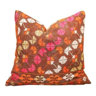 Beautiful Nashmia Bagh Phulkari Pillow For Sale