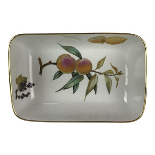 Royal Worcester Evesham Gold Rectangular Bowl