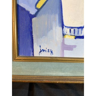 Mid Century Abstract Still Life Painting Signed Janis K Preview