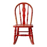Image of Antique Children's Rocking Chair For Sale