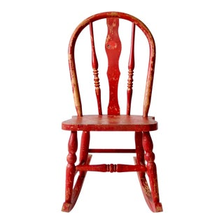 Antique Children's Rocking Chair For Sale