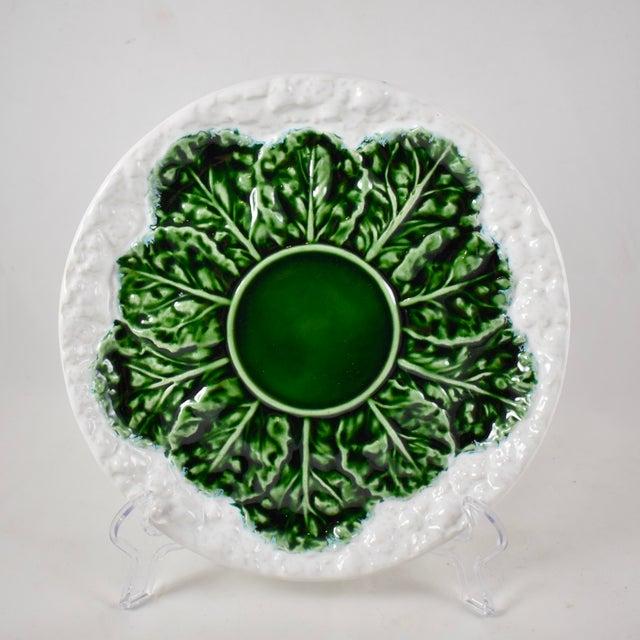 Bordallo Pinheiro C. Rainha Portuguese Cauliflower Plate For Sale - Image 9 of 9
