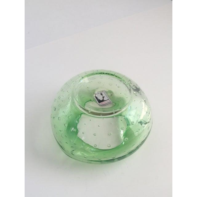 1960s Mid-Century Modern Kreiss Art Glass Green Bullicante Dish For Sale - Image 6 of 8