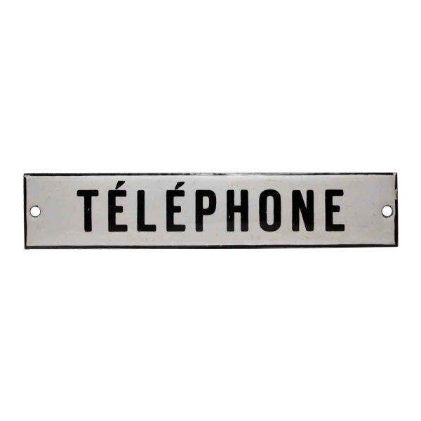 Enamel Telephone Sign - Image 1 of 3