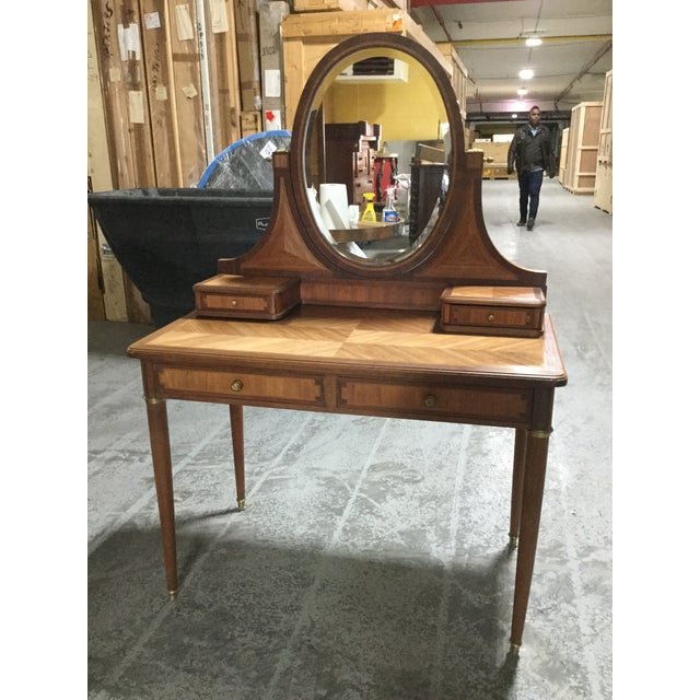 Wood 1930s French Art Deco Dressing Table For Sale - Image 7 of 7