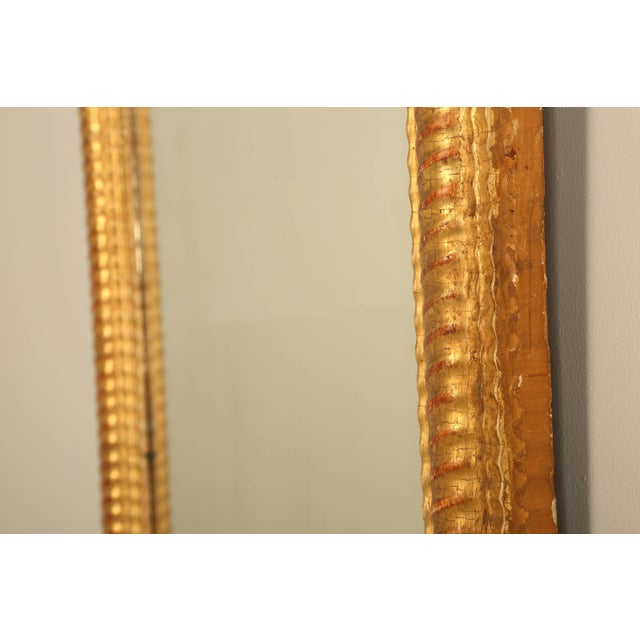 Glass Antique French Gilded Mirror For Sale - Image 7 of 9