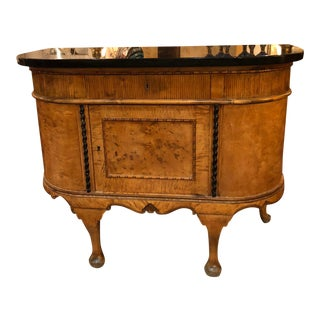 Biedermeier Style Curved Console Cabinet For Sale