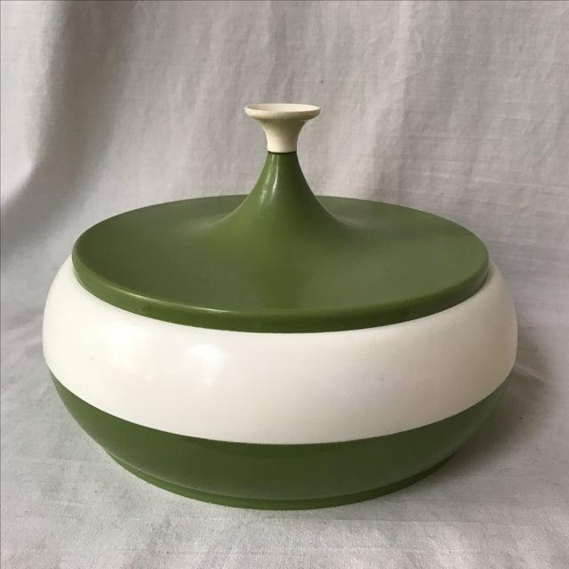 Vintage Green Lidded Canister - Image 2 of 5