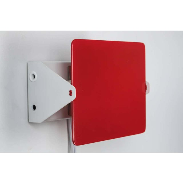 Nemo Lighting Charlotte Perriand Red 'Applique á Volet Pivotant' Wall Lights - a Pair For Sale - Image 4 of 9