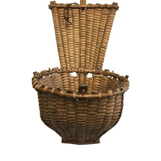 Early 1800's Antique Grape Harvest Basket For Sale