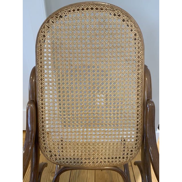 1970s Vintage Thonet Bentwood Rocking Chair For Sale - Image 11 of 12