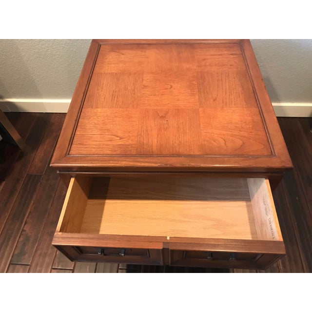 Hekman Walnut Asian Style Mid-Century Accent Table - Image 6 of 9
