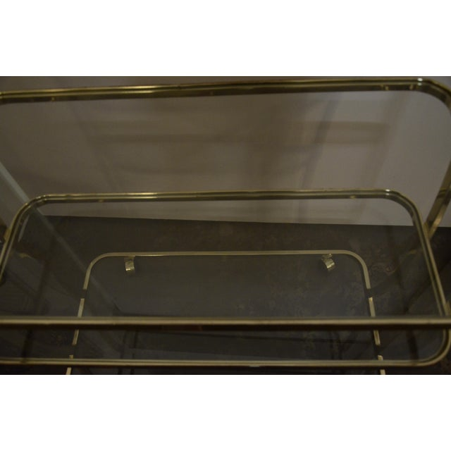DIA Three-Tier Brass and Glass Bar, Drinks, Tea or Service Cart /Trolley - Image 6 of 11