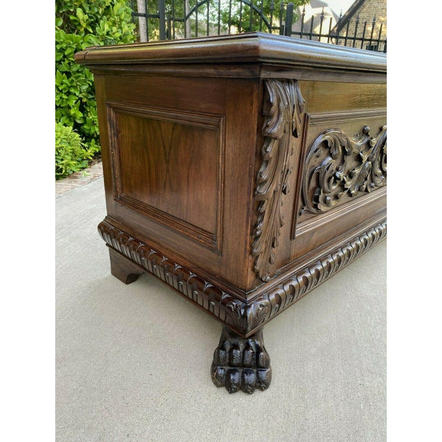 Wood Antique Italian Walnut Blanket Trunk For Sale - Image 7 of 13