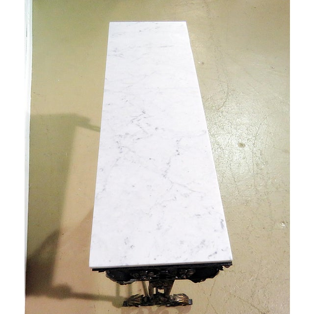 Wrought Iron Marble Top Console For Sale - Image 4 of 8