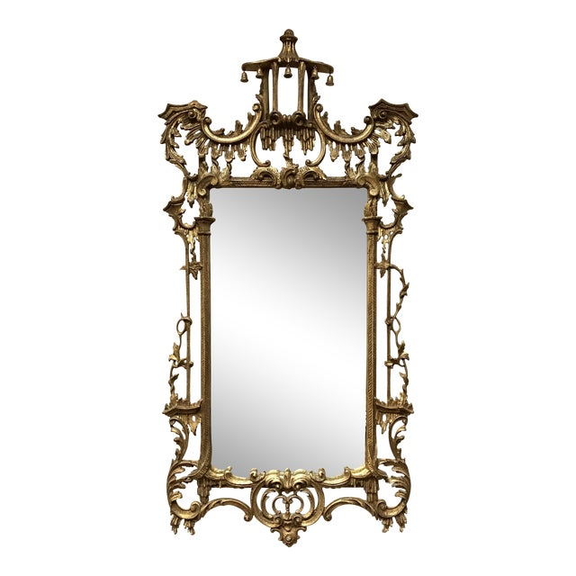 Carved Giltwood Chinoiserie Pagoda Mirror - Image 1 of 6