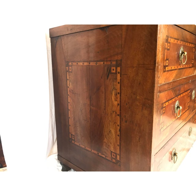 18th-c. French Louis XVI Inlaid Commode For Sale - Image 4 of 9