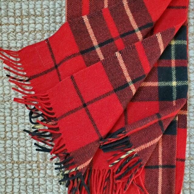 Rustic Troy Robe Tartan Plaid Throw Blanket For Sale - Image 3 of 6