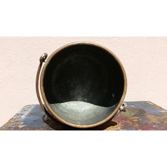 Large Brass Handled Pot - Image 5 of 6