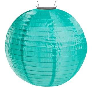 Soji Illume Outdoor Solar Powered Lantern in Mint For Sale