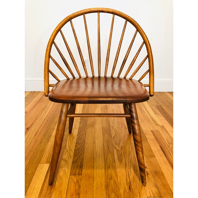 Mid-Century Modern Vintage Mid Century Russel Wright for Conant Ball Windsor Style Maple Chairs- A Pair For Sale - Image 3 of 10