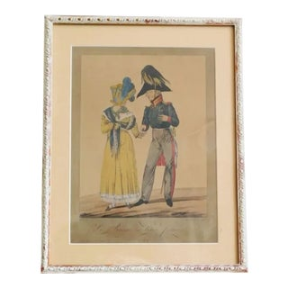 1814 Antique Napolean Print For Sale