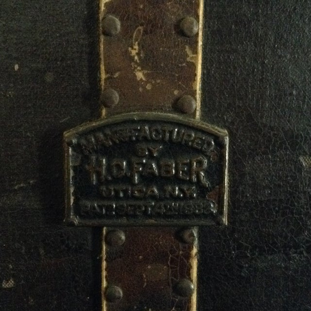 19th Century Trunk by h.c. Faber and Son Co. For Sale - Image 4 of 10