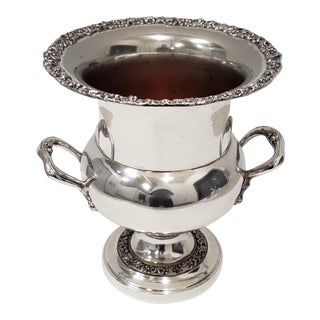 Vintage Plate Silver Over Copper Ice Bucket For Sale