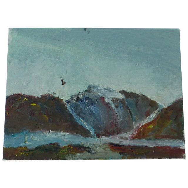 MCM Painting of Rocky Ocean H.L. Musgrave - Image 1 of 6