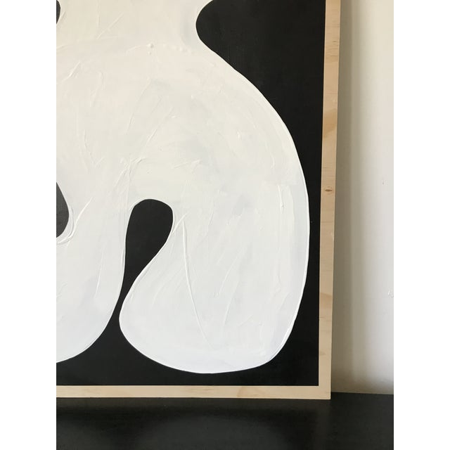 2010s Hannah Polskin Abstract Butterfly Monochrome Diptych - 2 Pieces For Sale - Image 5 of 10