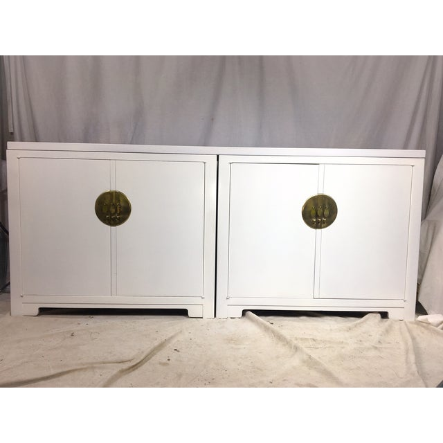 Michael Taylor for Baker White Ming Style Credenza - Image 4 of 6