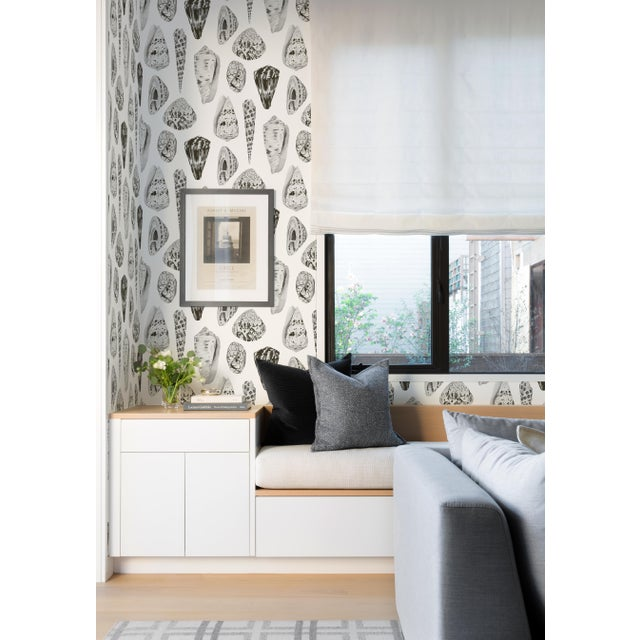 Peel & Stick vinyl wallcovering. 6 yd, 30.75 square feet. A beloved Scalamandré print of exquisitely drawn seashells....