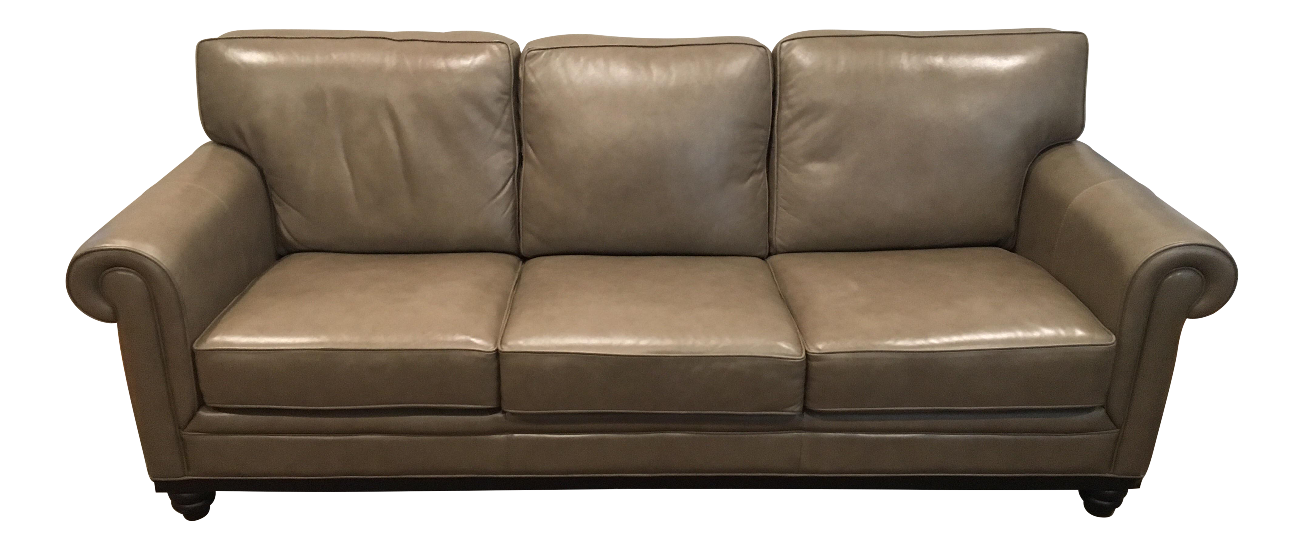 Exceptionnel Martha Stewart Taupe Leather Sofa