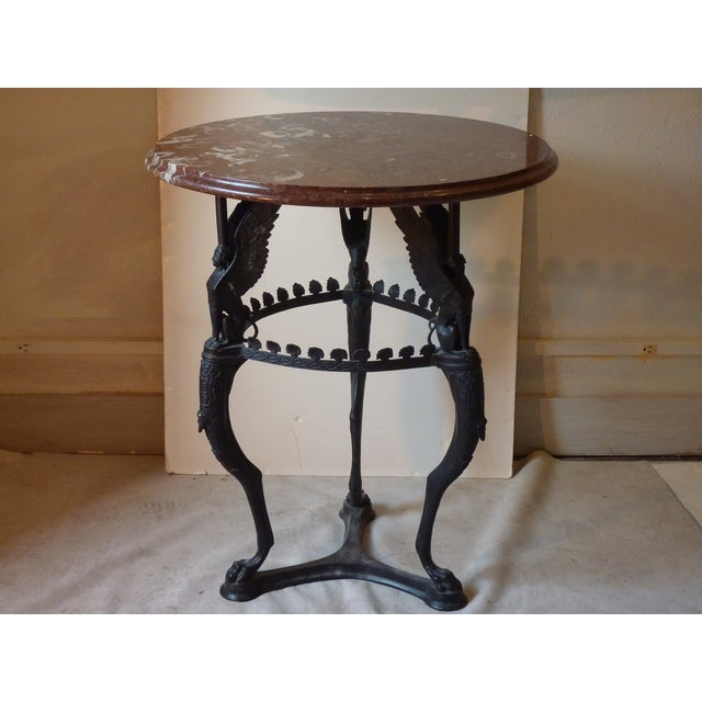 Black Early 20th Century Italian Empire Style Bronze Gueridon For Sale - Image 8 of 10