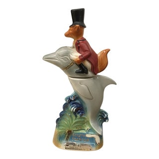 "Novelty Ceramic Bottle ""Dolphin With Rider"""
