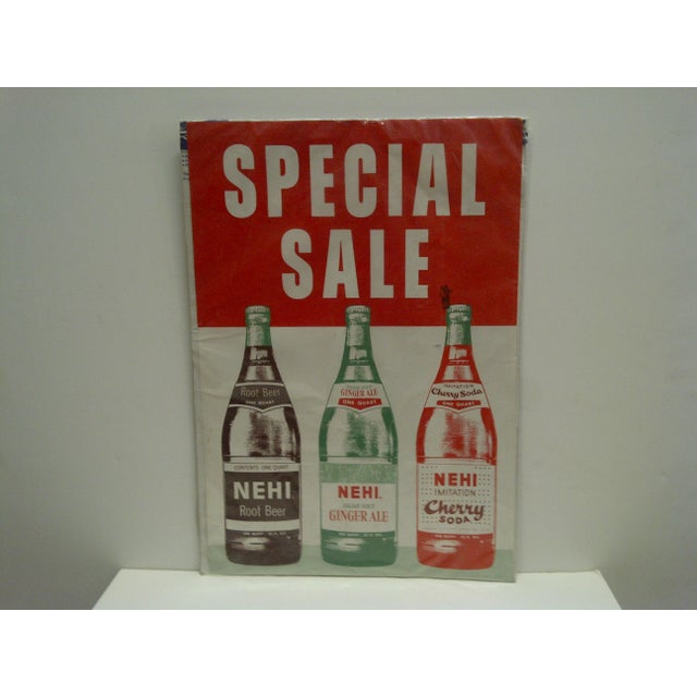 "This is a Vintage -- Advertising Poster -- ""Nehi Soda"" -- Circa 1960 Cardboard."