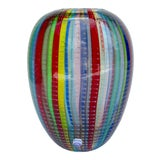 Image of C.1970's Italian Signed, Large Hand-Blown Ovoid-Shaped Multi-Colored Murano by Gino Cenedese For Sale