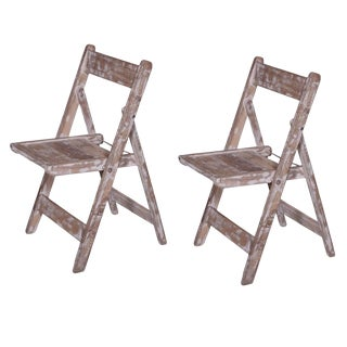 Rustic Style Morgan Folding Chair - Set of 2 For Sale
