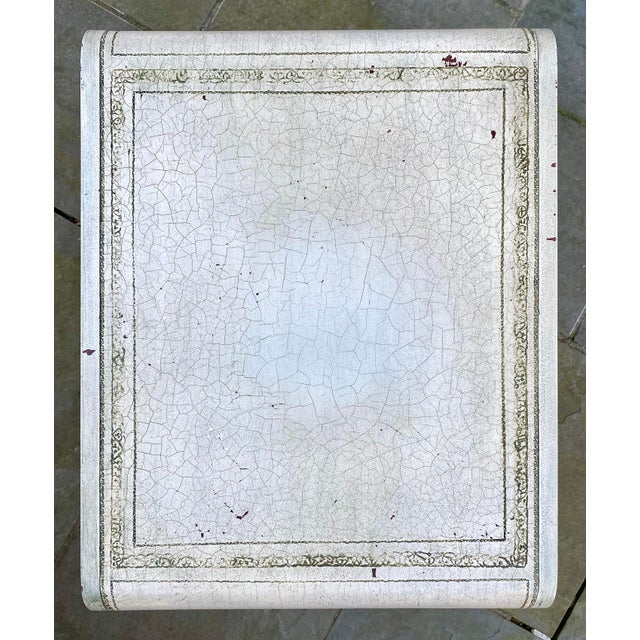 English Scroll Table With Faux Painted Detail For Sale In New York - Image 6 of 11