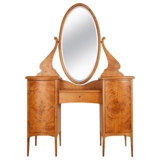Birch Vanity Table, circa 1920 For Sale