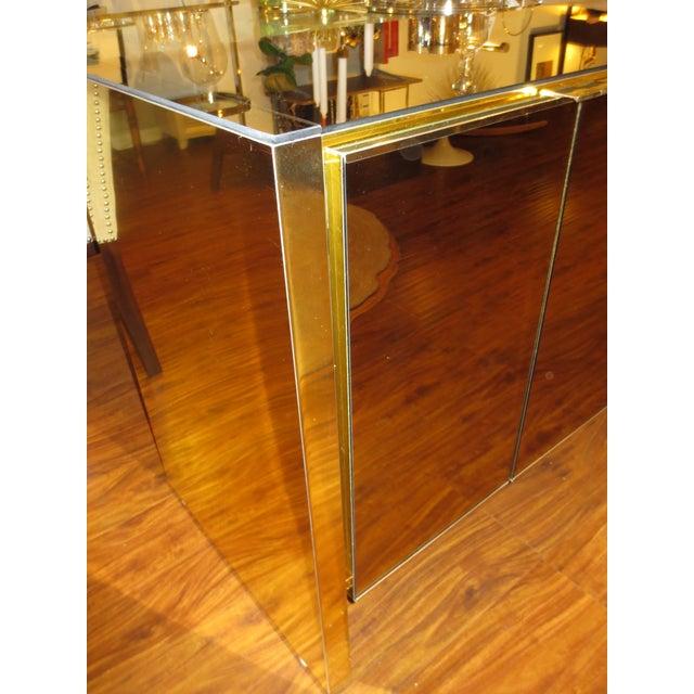 Vintage Ello Bronze Mirror Buffet with Brass Trim - Image 4 of 6