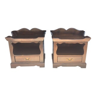 1940s Vintage Chippendale Nightstands - A Pair