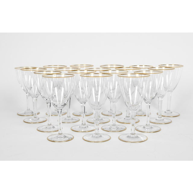 Vintage Baccarat Wine / Water Glassware - Service for 18 People For Sale - Image 12 of 13