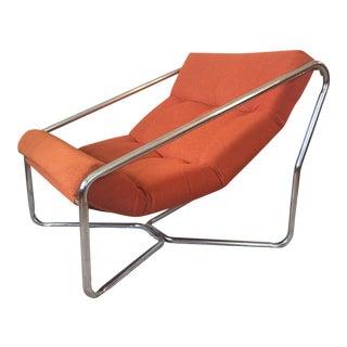Tubular Chrome Sling Chair For Sale