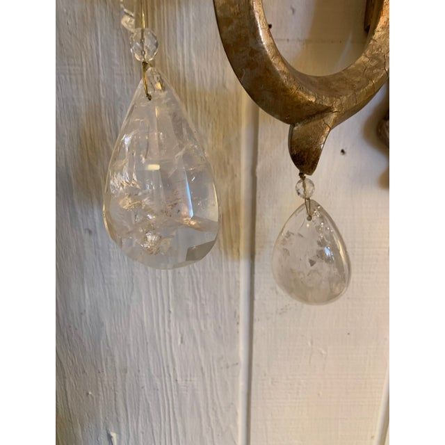 Designer Giltwood Candle Sconces -A Pair For Sale - Image 11 of 13