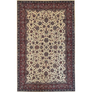 Mansour Persian Handwoven Tabriz Rug - 6′ × 9′3″ For Sale